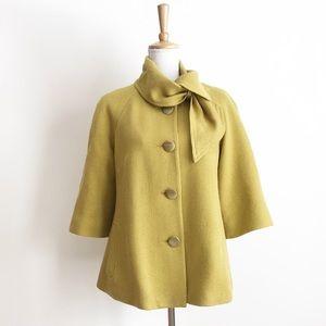 Anthropologie Tabitha Yellow Short Pea Coat